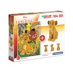 Puzzle enfant + 3D Simba -...