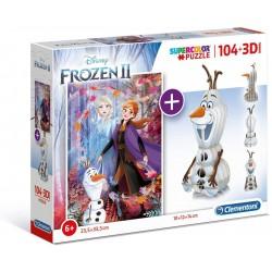 Puzzle enfant + 3D Olaf -...